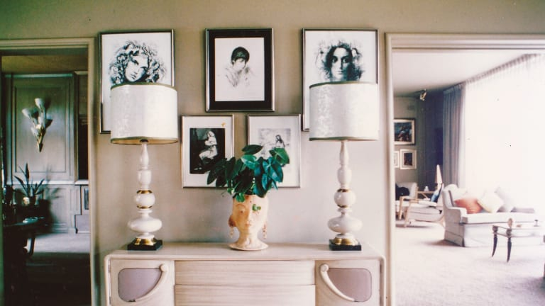 BESPOKE BEAUTY: Melbourne designer O. Noel Coulson designed furniture especially for fashionista Mary Lipshut's home.