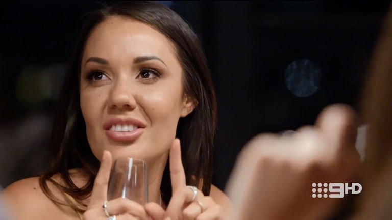 'How big is three inches?': Davina gets nasty about Ryan's manhood.