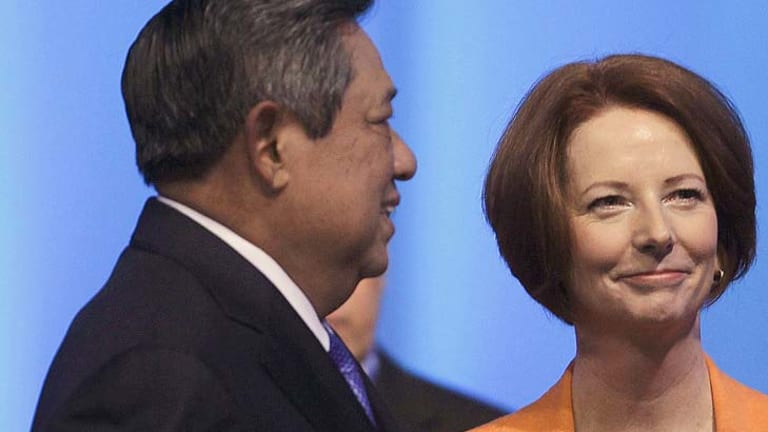 Face-off... Tensions expected to rise between Indonesian President Susilo Bambang Yudhoyono and Prime Minister Julia Gillard over the asylum seeker issue.