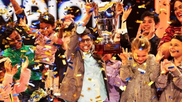 <i>Great Australian Spelling Bee</i> winner Anirudh after taking out the title on Tuesday night.