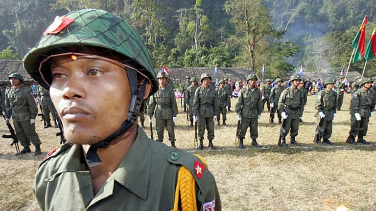Karen National Union soldiers in 2006. The conflict has been ongoing for 63 years.