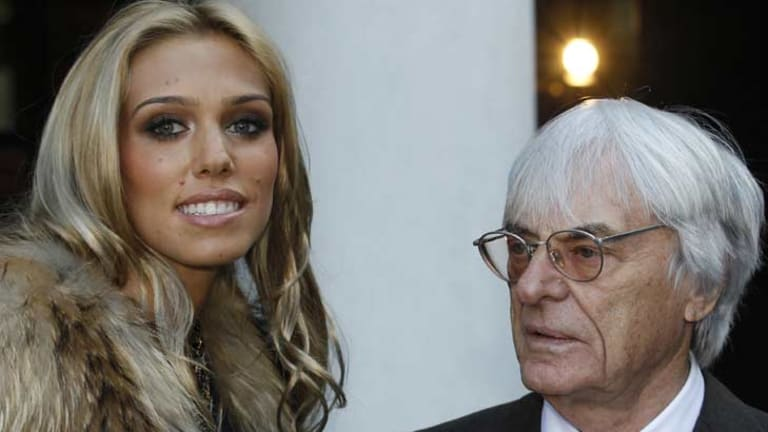 Family affair ... Bernie Ecclestone with his other daughter Petra.