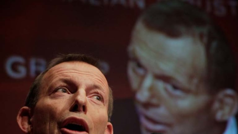 May have overlooked the finer details ... Opposition Leader Tony Abbott.