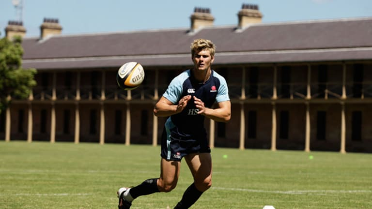 Pressure on ... Berrick Barnes is set to lead the NSW attack from no.10.