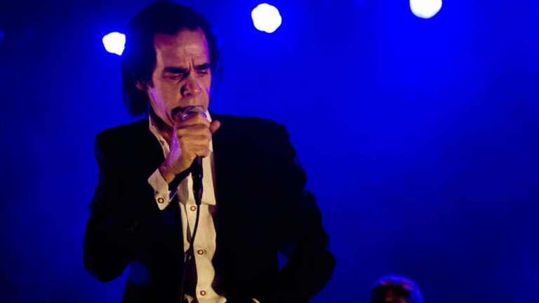 Nick Cave at the Sidney Myer Music Bowl.