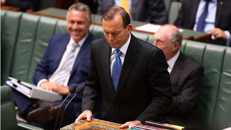 Prime Minister Tony Abbott was asked about the Attorney-General's comments in question time on Monday.