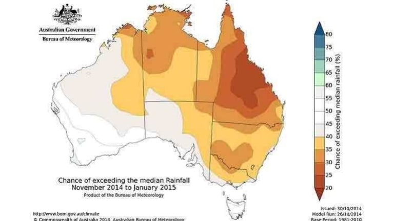 November-January rainfall outlook points to drier-than-usual conditions.