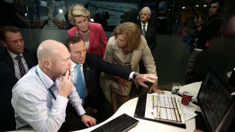 Opposition Leader Tony Abbott on the campaign trail in Brisbane. The Coalition will release its costings two days before election day.