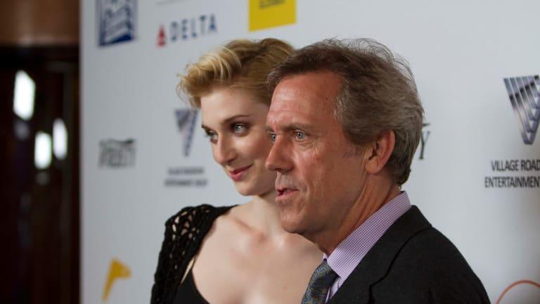 Actor Hugh Laurie with Elizabeth Debicki.
