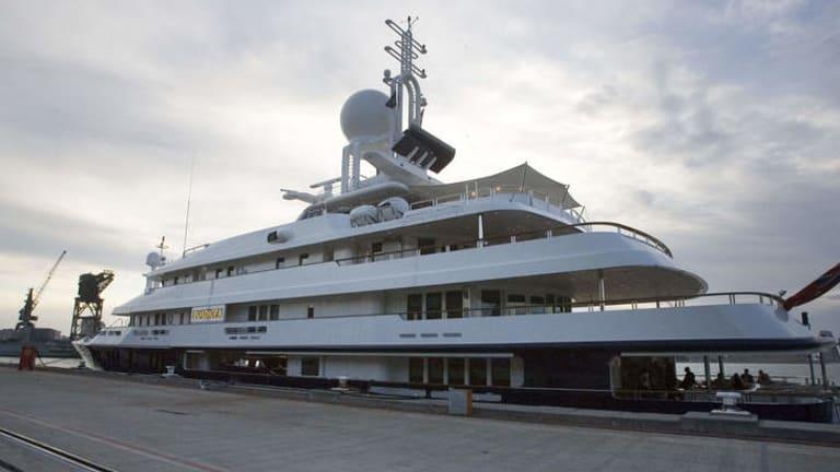 Reg Grundy's yacht Boadicea.