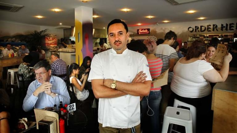 Pinch of salt: Warren Turnbull, chef at Chur Burger in Surry Hills.