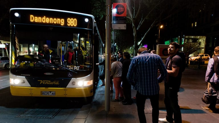 Melbourne's night bus network runs on Fridays and Saturdays - but nor on New Year's Eve.