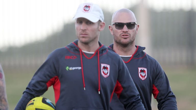 Passion: Ben Hornby and Dean Young have taken on bigger coaching roles at the Dragons.