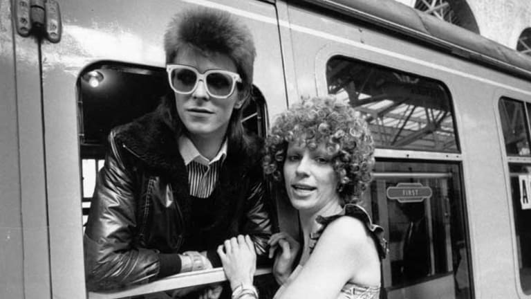 David Bowie and wife Angie Bowie in 1973. She found her husband in bed with Mick Jagger, according to author Chris Andersen.
