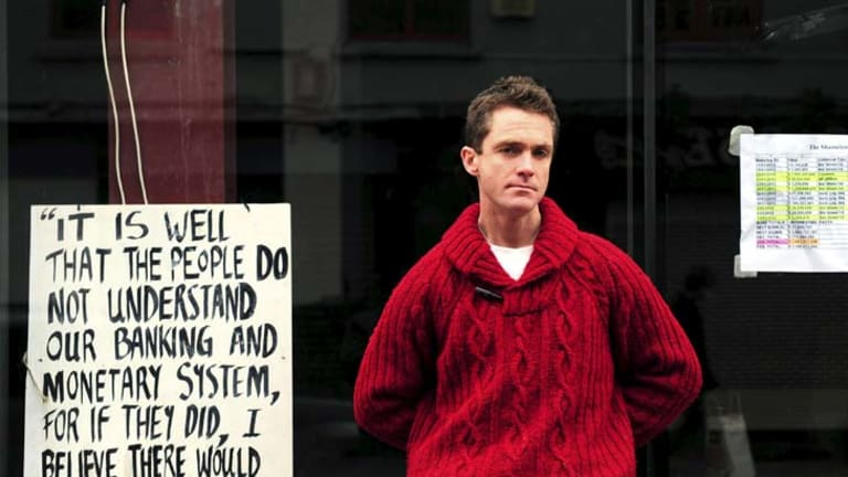 Practical protest … Liam Mullaney is one of the demonstrators hoping to turn Cork's Stapleton House, below, into a community centre.