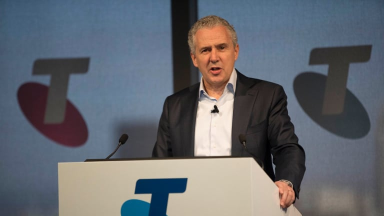 Telstra chief executive Andy Penn says the telco has signed exclusive deals to get 5G ready handsets.