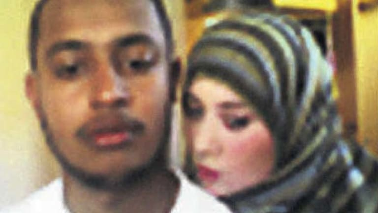 Possible picture of Samantha Lewthwaite with an unidentified man released by the Kenyan police.