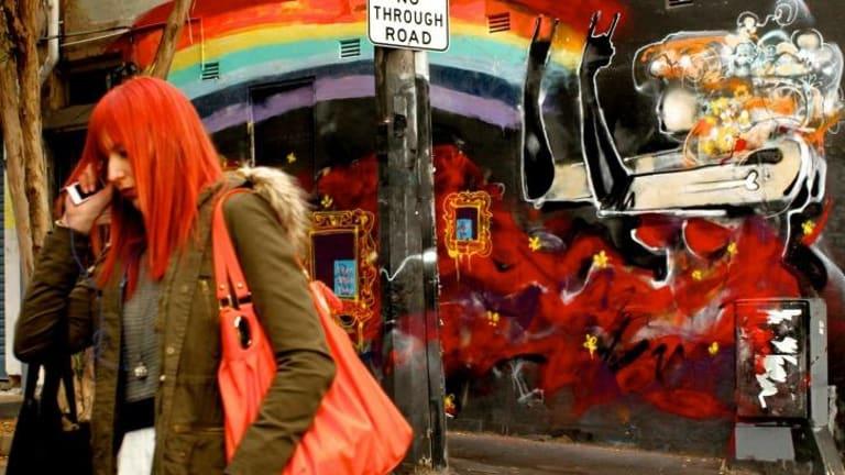 The work of street artist Anthony Lister around Sydney.