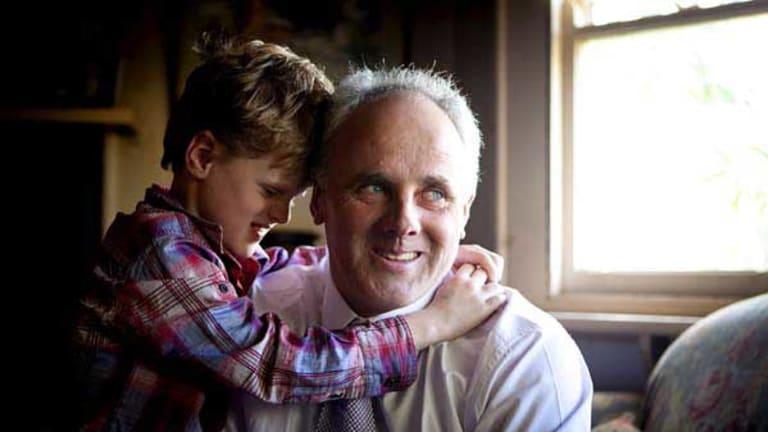 Ballarat blacksmith John Madigan and son, Jack. Madigan looks set to be elected to the Senate.