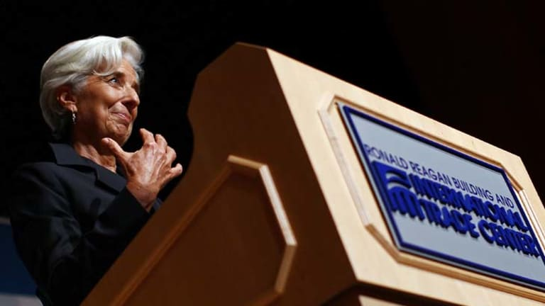 Trouble ahead ... the IMF, headed by Christine Lagarde, pictured, has released dire predictions about the global and Australian economy.