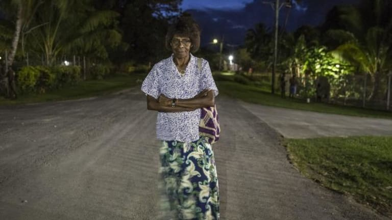 Leading the cause: Sophie Mangai is a strong advocate for women's rights in PNG and has suffered for the cause.