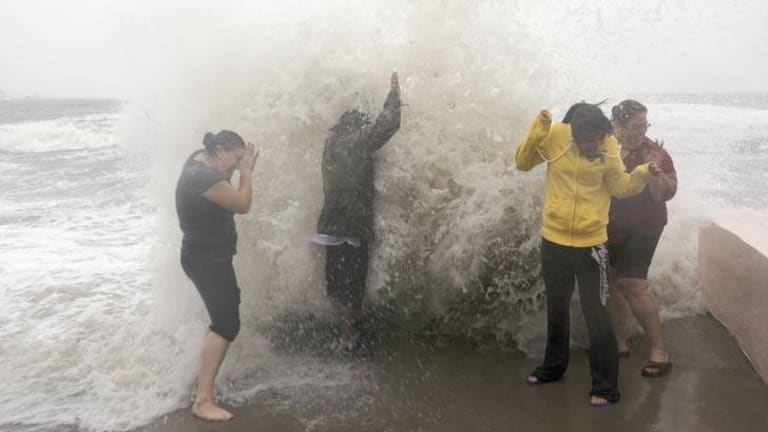Making waves ... Hurricane Sandy.