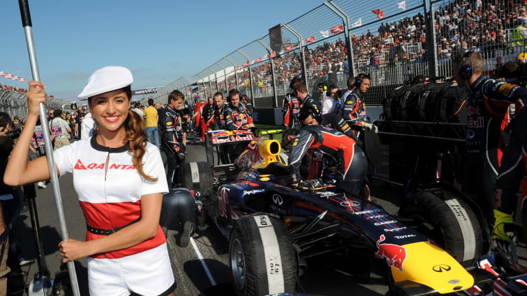 On the grid at the Australian Formula One Grand Prix.