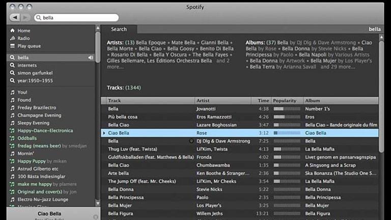 Streaming service Spotify.