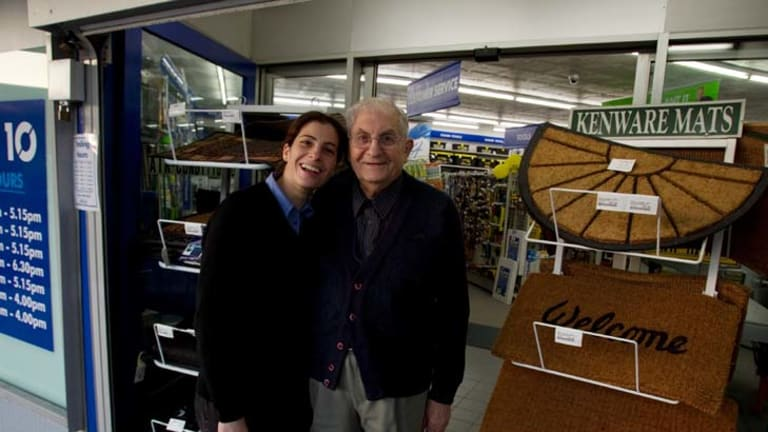 Talk the talk ... Julianne Taffa with her father Ron, who started the family business.