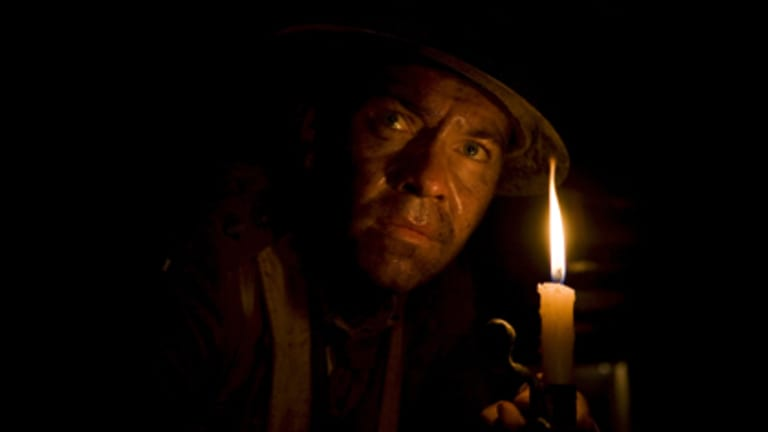 What lies beneath the Western Front... Brendan Cowell shines as Captain Woodward, whose men laid mines under the German trenches at Messines Ridge.