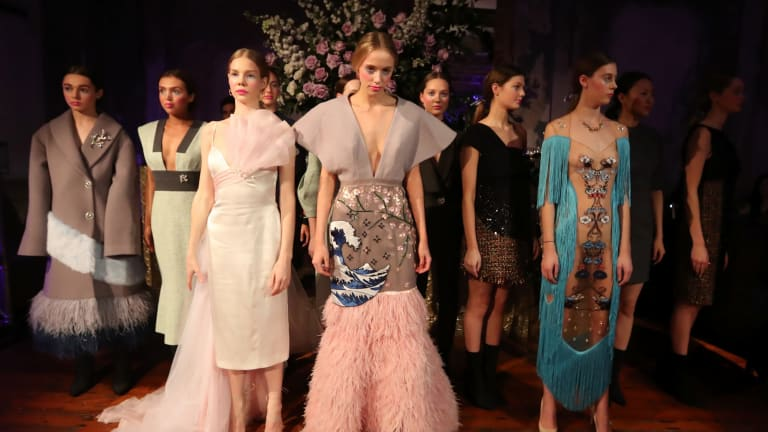Models at the Leo & Lin debut collection launch in Melbourne last Thursday.