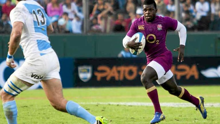 Shock call-up: Christian Wade made his Test debut for England against Argentina last Saturday.