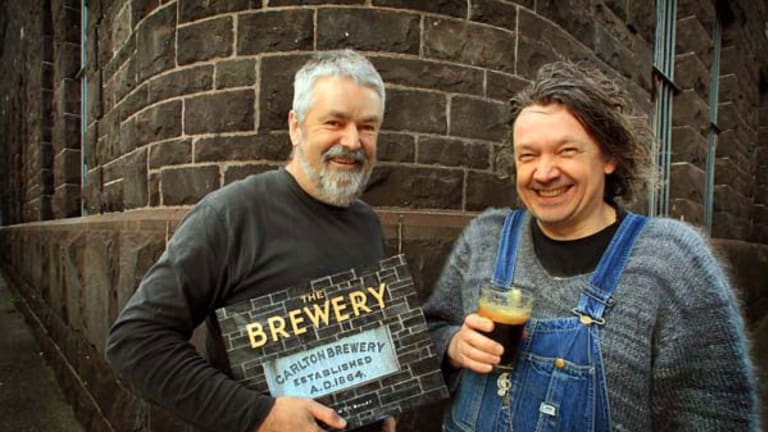 Michael Bannenberg (left) and Andrew Bailey joined forces based on a mutual love of beer labels.