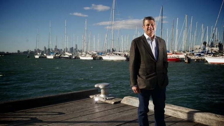 Former Victorian Premier Steve Bracks in Williamstown.