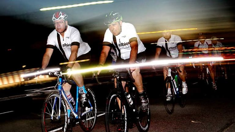 The Eastern Suburbs Cycling Club out riding on Saturday morning.