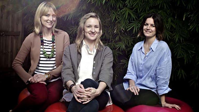 Grass roots ... safARI's Krista Huebner, Nina Stromqvist and Danielle Robson.