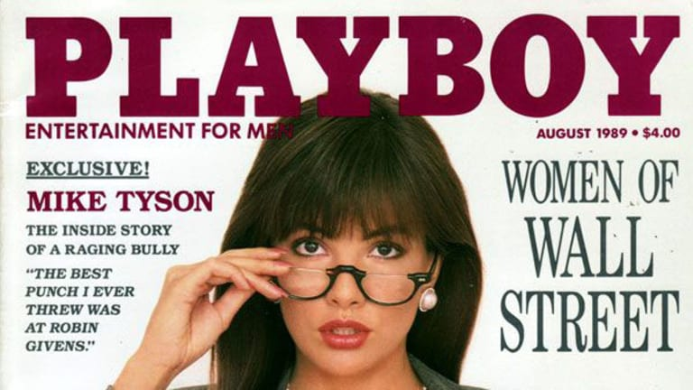 Brandi Brandt on the cover of the August 1989 edition of Playboy.