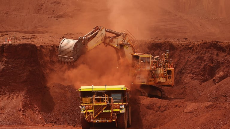 The spot price of iron ore shed $US5.47 to $US75.45 a tonne on Friday, according to Metal Bulletin. That compares with a February 21 close of $US94.86, the highest since 2014—a 20.5 per cent drop.