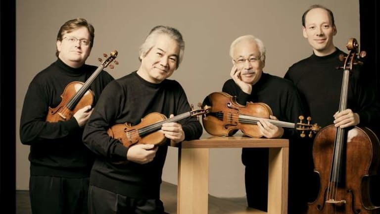 Valediction: The Tokyo String Quartet (from left) Martin Beaver (violin), Kikuei Ikeda (violin), Kazuhide Isomura (viola) and Clive Greensmith (cello).