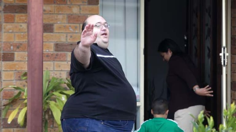 Disendorsed ... David Barker at home yesterday. He stood by his Facebook comments and said he was not ''anti-Muslim''.