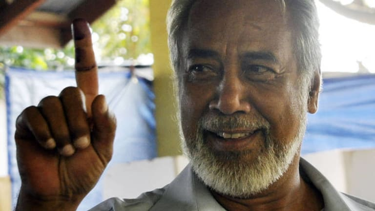 Extended his lead ... Xanana Gusmao.