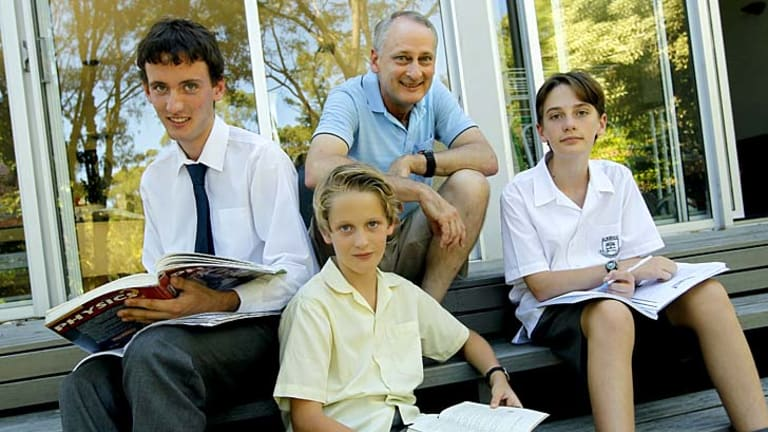 State selection: Alan Gardiner chose to send his sons, David, 17, Michael, 9, and Peter, 12, to public schools.