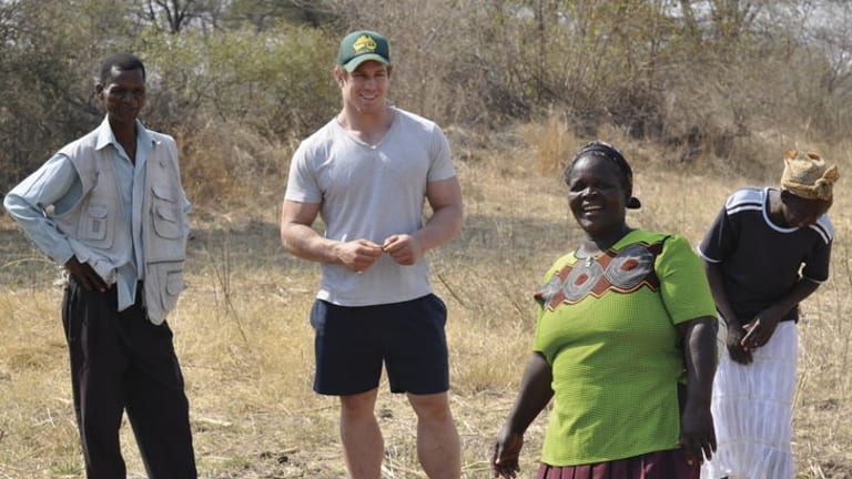 Unforgettable ... Pocock on a recent trip to Nyaki, an area of concern for his and Luke O'Keefe's charity, EightyTwenty Vision.