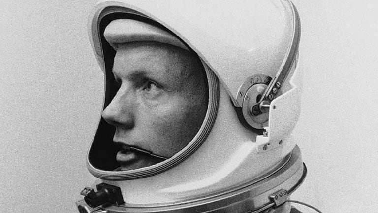 "Neil Armstrong ... ""all the courage in the world."""
