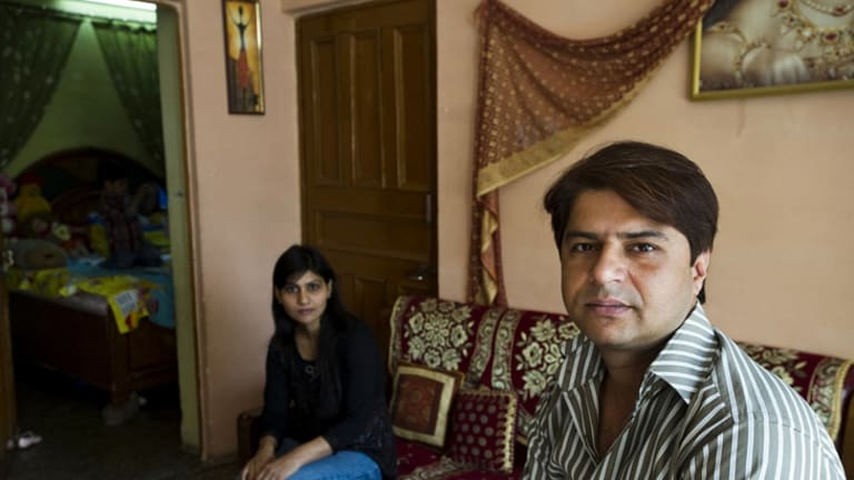 Munish Dalal and his wife, Preeti.