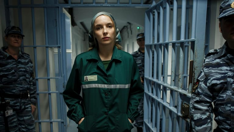 Jodie Comer is the chillingly playful Villanelle in <i>Killing Eve</I>.