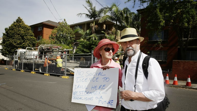 Protests over the WestConnex plan.