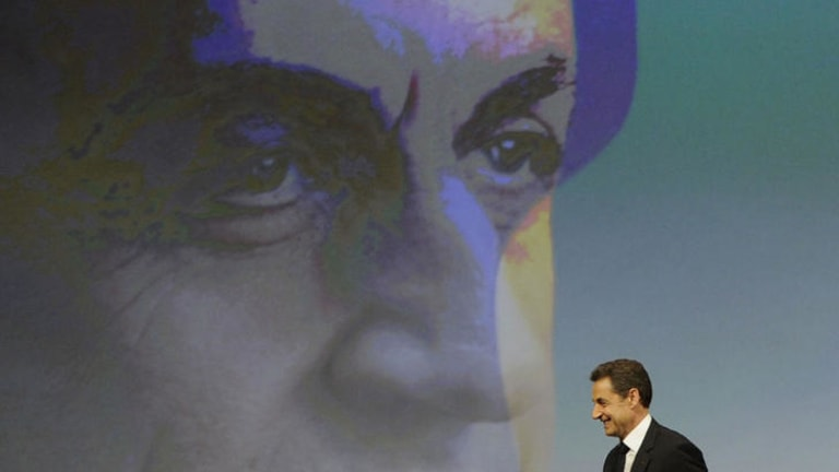 France's President and Union for a Popular Movement (UMP) candidate for the 2012 presidential election, Nicolas Sarkozy.