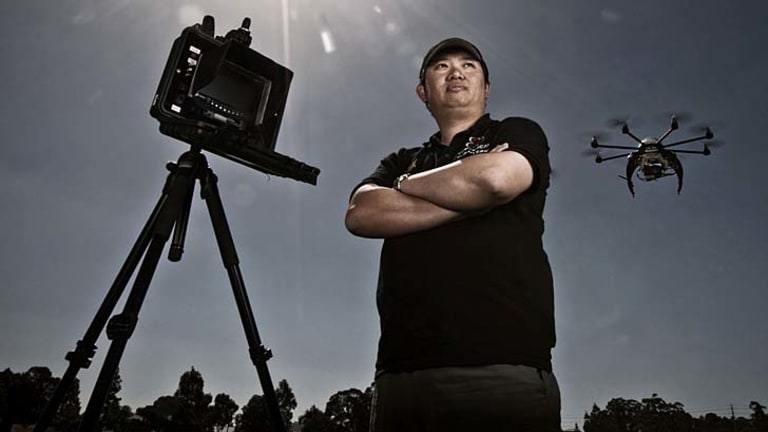 """Pie in the sky"": Commercial drone operator Coptercam's chief pilot Hai Tran."