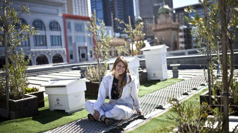 Vanessa's favourite view is from the top of Federation Square.